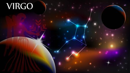 Virgo - Space Scene with Astrological Sign and copy space Reklamní fotografie