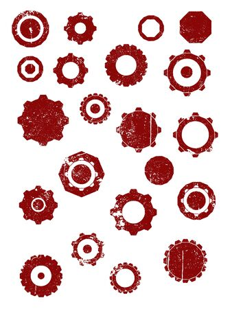 Grunge elements - Cogs and Wheels - Highly Detailed vector grunge elements