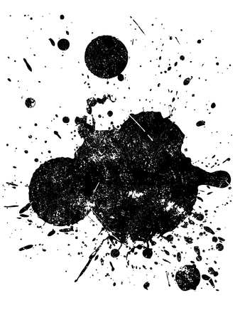 Grunge Splat  -  Background is transparent so they can be overlayed on other Illustrations or Images.