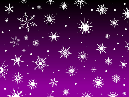 Border of snowflakes fading into a Purple background