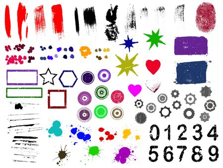 Over 90 Grunge elements - Highly Detailed vector grunge elements Separately grouped and layerd for easy use.