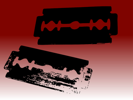 2 Vector Razor blades - transparent vectos so they can be overlaid on backgrounds etc. Ilustração