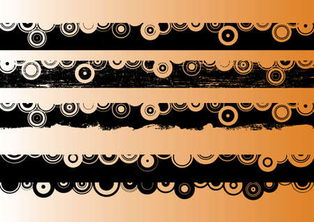 4 Black grunge artistic strips 2 (Transparent vectors so it can be overlaid onto other graphics and images) Ilustração