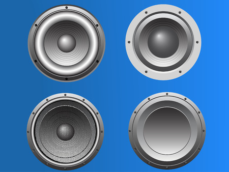 4 Pub and Disco style Loudspeakers in vector format