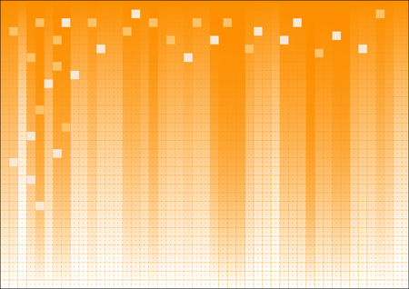 Orange Fading Business Graphic with dots and suqares overlaid Banco de Imagens - 39423788