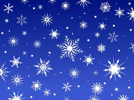 Border of snowflakes fading into a blue background Banco de Imagens - 39423795