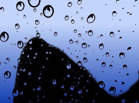 Water Droplets Rising - Vector illustration Ilustração