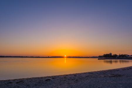lake sunset: Hamana Lake sunset scenery