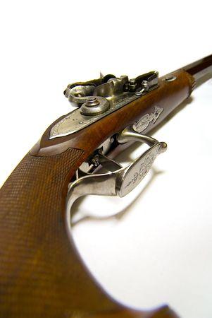 muzzle loading: Antique handgun.