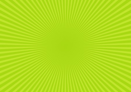 Green rays background. Vector Stock Photo - 4218785