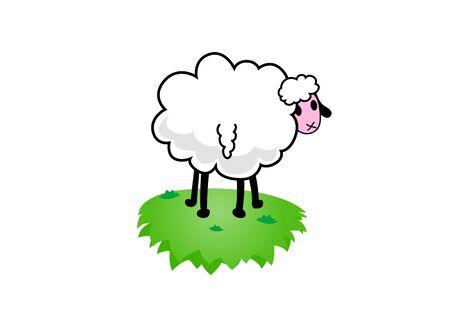 Illustration of sheep. Vector art illustration
