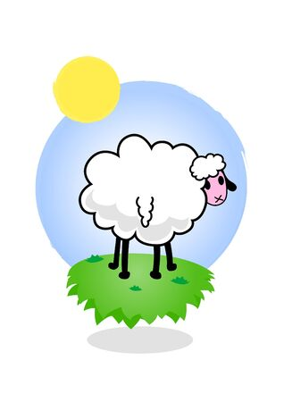 Illustration of funky sheep. illustration