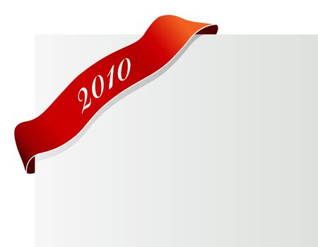 Red ribbon with 2010. Stock Photo - 6191133