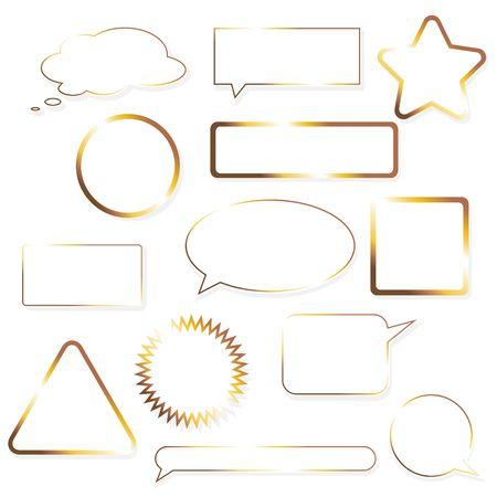 different shapes: serie di tag vuoto con forme diverse. Archivio Fotografico