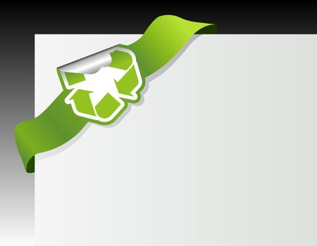 Recycle symbol in the corner photo
