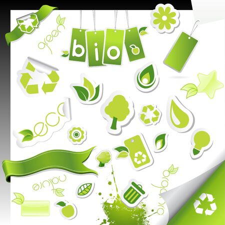 Set of ecology icons. photo