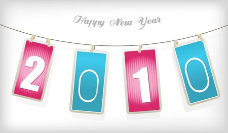 New year cards. Vector Stock Photo - 6191135