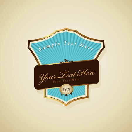 label with ribbon. Vector