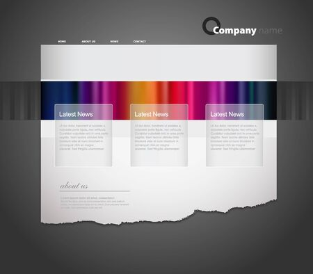 Website template with stripes. Vector