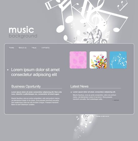 Website template with notes. Vector