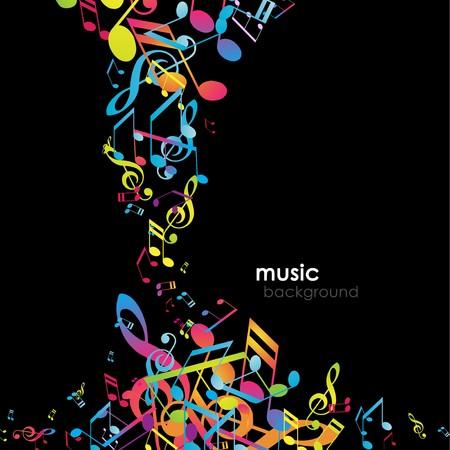 music design: Fondo abstracto con melod�as.  Vectores