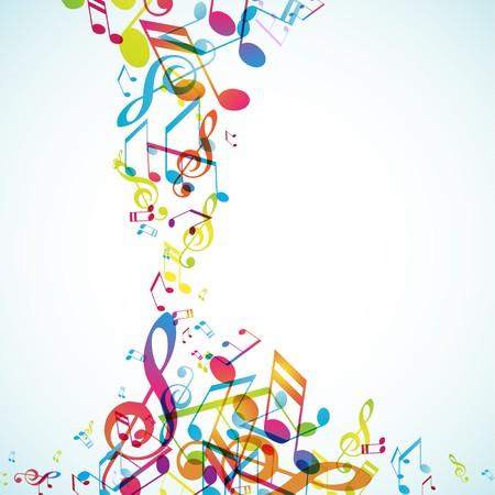 splash color: Sfondo astratto con melodie.
