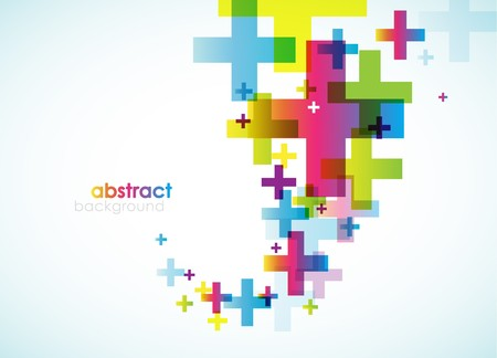 Abstract colored background. Vector
