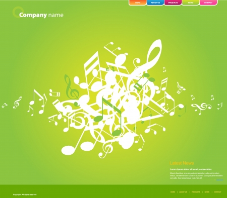 Website template. Stock Vector - 7090071