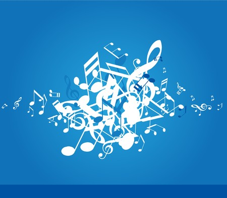 Abstract background with tunes. Stock Vector - 7137310