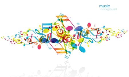 Abstract background with tunes. Stock Vector - 7176106