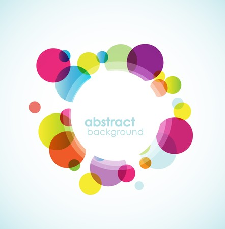 circle design: Abstract colored background. Illustration