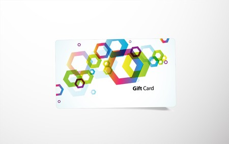 Colored gift card. Stock Vector - 7388918