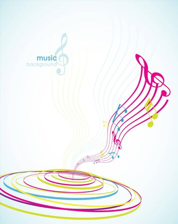 Abstract background with tunes. Stock Vector - 7434671