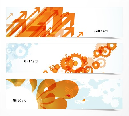 Set of banners or gift cards. Stock Vector - 7434676