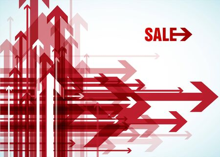 red wallpaper: Red arrows with sale.
