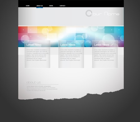 webpage: Website template with circles.