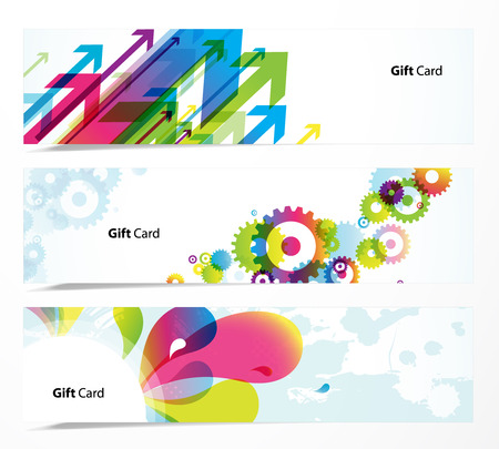 Set of colored banners. Stock Vector - 8309358