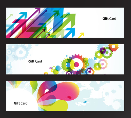 Set of colored banners. Vector
