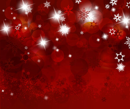 festive: Christmas red background with snow flakes.