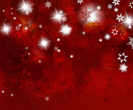 snow flakes: Kerstmis rode achtergrond met sneeuwvlokken. Stock Illustratie
