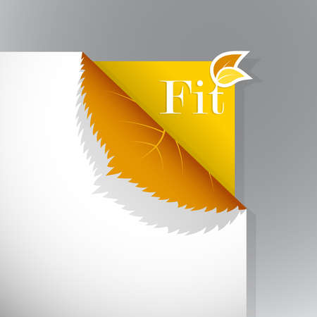 Corner on paper with fit sign. Vector