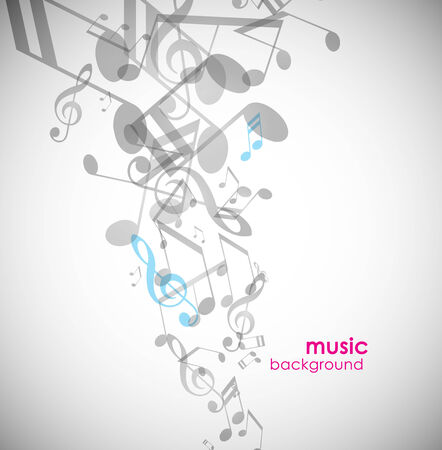 music abstract: Abstract background with tunes.  Illustration