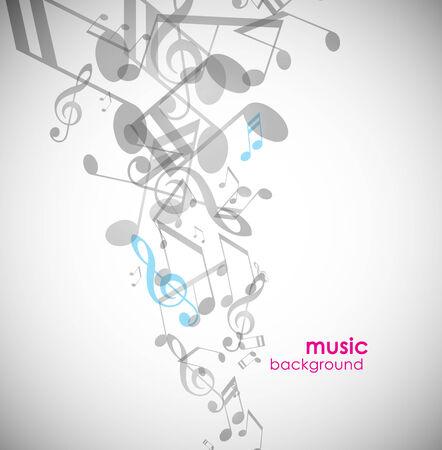 musical note: Fondo abstracto con melod�as.  Vectores
