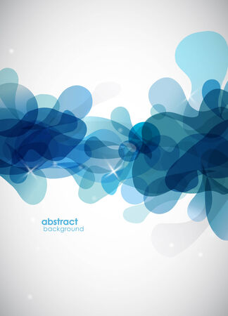 abstract blue background with circles. Illustration