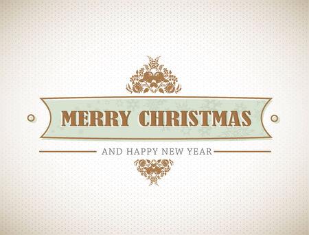 Alten stilvolle Christmas Schild.