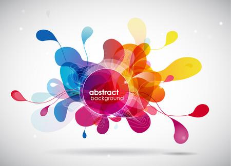 abstrakt farbigen Hintergrund mit Kreisen.
