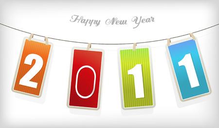 New year card. Vector art Stock Vector - 8569693