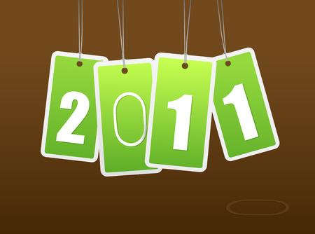 New year card. Stock Vector - 8569681