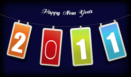New year card. art Stock Vector - 8643333