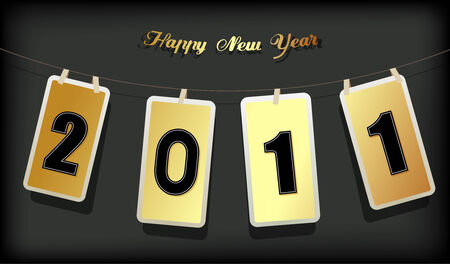 New year card. Vector art Stock Vector - 8643340